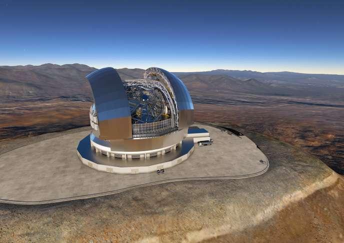 L'Extremely Large Telescope tel qu'imaginé par l'Observatoire européen austral.